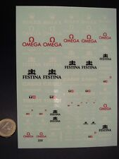DECALS 1/43 au 1/18 ROLEX BREITLING FESTINA SEIKO CASIO TISSOT OMEGA T359