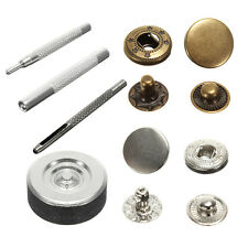 10mm Press Studs Snap Fasteners Poppers Sewing Clothing Buttons Craft 15 Sets