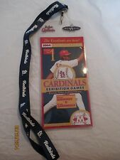 St. Louis Cardinals VS Memphis Redbirds 2004 Exhibition Game Ticket GAME ONE