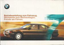 BMW 7er E38 Betriebsanleitung 1999 Bedienungsanleitung Handbuch Bordbuch BA