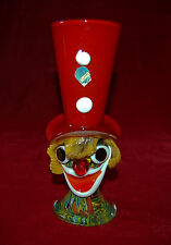 MURANO Art Glass CLOWN HEAD Made In Venice ITALY Magnificent! Murano Sticker!