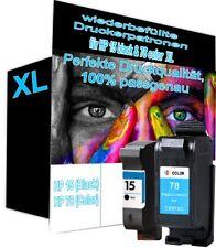 2 Druckerpatronen wiederbefüllt für HP  NR.15+NR.78 920C 940C 3820