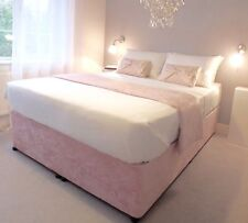 Elasticated Bed Valance Divan Base cover Bed wrap in crushed velvet MANY COLOURS