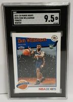 2019-20 Panini NBA Hoops Winter Tribute #296 Zion Williamson RC Rookie SGC 9.5