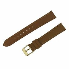 Leather watch strap for women 16mm leather Watch Band Casual brown