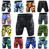 Mens Camo Workout Athletic Bottoms Sports Trunks Gym Dri fit Compression Shorts