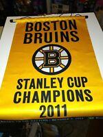 12 X 17 Boston Bruins Sga Championship Banner nice see pics. free ship