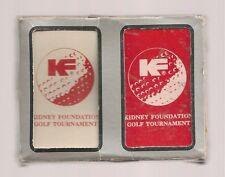Kidney Foundation Golf Tournament Playing Cards 2 Decks Set Sealed