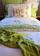 Yves Delorme New Pair Lolavert White Green Pillow Shams Pillowcases Set of 2
