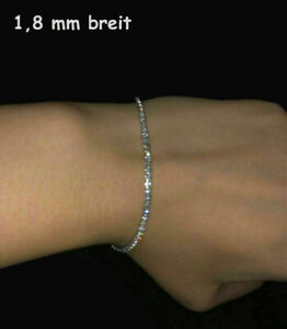 925 ECHT SILBER RHODINIERT *** Zirkonia Tennisarmband Armband Armkette