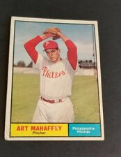ORIGINAL1961 TOPPS PHILADELPHIA PHILLIES BASEBALL CARD #433 ART MAHAFFEY EXCELLE