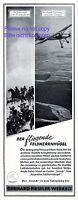 Flugzeug Fieseler Werke Reklame 1941 Storch Kassel Feldherrenhügel Luftwaffe +