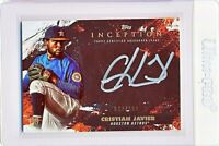2021 Topps Inception Silver Signings Cristian Javier RC /100 | Houston Astros