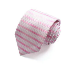 Men Fashion Plain Solid Striped Woven 8.5CM Necktie Wedding Business