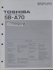 Toshiba SB-A70 Amplificateur service repair workshop manual (original)