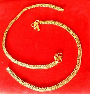 """Indian Gold Plated 10"""" Payal Foot  Designer Chain Anklet Set Women kid Jewelry c"""