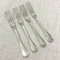 Christofle Silver Plated Cutlery Table Forks Set of 4 ALBI French Flatware 17cm