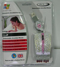 BCL Retractable Jewelled 800DPI USB Mouse