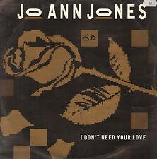 JO ANN JONES - I Don't Necesidad de Su Amor - Champion