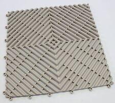 Bene Domo Modena Beige Plastic Modular Non Slip Wet Area Mat Tile Bathroom