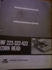 Vintage Massey Ferguson Operators Manual -# 222 322 422 Combine Corn Heads