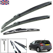 Flat Aero Replacement Driver Passangers Pair of Windscreen wiper blades 20//15 Jazz 2002on