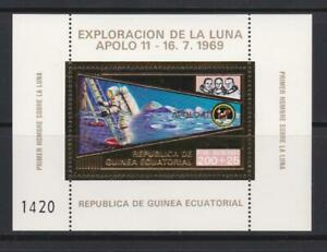 EQUATORIAL GUINEA 1972 SPACE STAMPS  APOLLO 11 GOLD FOIL SS MNH - SP202