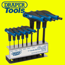 Draper T-Handle Metric Ball Ended Hex Allen Key/Wrench Set 2mm-10mm +Stand 33873