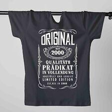 T-Shirt 18. Geburtstag Prädikat Vollendung Original 2000 18ter Herren XS - 5XL