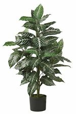 Nearly Natural 6542 Zebra Silk Plant- 3-Feet- Green NEW