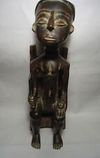 Vintage Hand Carved Wood African Sculpture Statue Man
