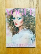 Vogue UK December 1974 Twiggy Barry Lategan Christopher Lee Bianca Jagger Helvin