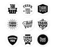 """2"""" Round Natural Paper Thank You Stickers Adhesive Label (set of 90)"""