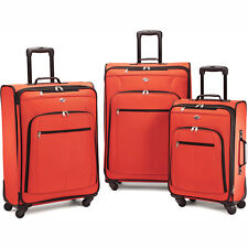 American Tourister Pop Plus 3 Piece Nested Spinner Luggage Set (Orange) - 64590-
