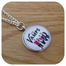 The**VAMPS** BOY ** BAND GROUP round charm  necklace