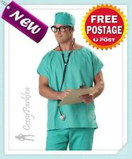 Doctor Scrubs Men's Halloween Fancy Dress Up Costume M/L AU