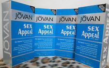 JOVAN SEX APPEAL MUSK COMBO 4 FOUR BOTTLES 3.0 OZ COLOGNE SPRAY NIP FOR MEN