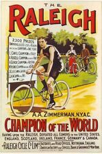 Vintage Raleigh Racing Bike Advertising Poster A3 Reprint