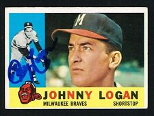 Johnny Logan #205 signed autograph auto 1960 Topps Baseball Trading Card