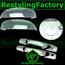 07-13 Chevy Silverado Chrome Top Mirror+2 Door Handle W/O PSG Keyhole+Gas Cover