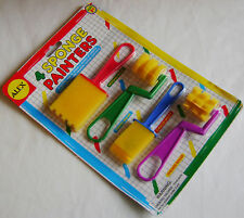 New 4 Sponge Painters Brushes And Rollers Art Craft Create Alex