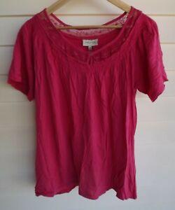 Autograph Plus Size 22* – Women's Pink T-shirt Blouse Top *check measurements