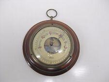 Vintage Brass & Wood STELLAR Aneroid Barometer Weather Rain Gauge - Germany