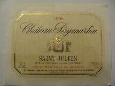 Etiquette - Château PEYMARTIN - 1995 - St Julien - Henri MARTIN - (E4)