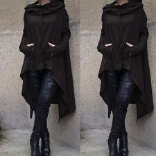 Women Ladies Hooded Jumper Dress Pullover Asymmetric Long Top Sweater Sweatshirt