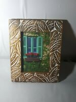 """OPALHOUSE Wooden Carved  Pattern Photo Frame  5""""x7"""" 🆕"""