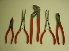 New Mac Tools Red 5pc Long Pliers Set