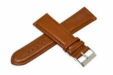 BROWN 22MM GENUINE LEATHER STITCHED WATCH BAND STRAP FITS HAMILTON