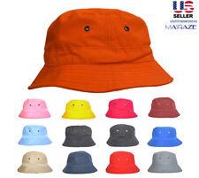 Bucket Hat 2 INCH Boonie Cap Cotton Fishing Hunting Safari Sun men women MASRAZE