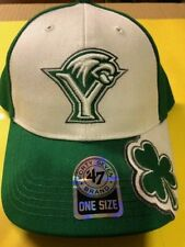 47 Brand - York College of PA Baseball Hat - New - Green & White with Shamrock